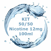 Kit - Base Neutra 50/50 - 100ml Nicotina 12mg  TPD