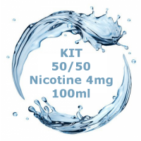 Kit - Base Neutra 50/50 - 100ml Nicotina 4mg  TPD