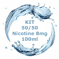 Kit - Base Neutra 50/50 - 100ml Nicotina 8mg  TPD
