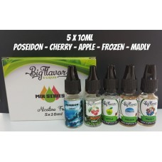 Mix Series Liquids PREMIUM GOLD - Pack 5 pcs 0mg/ml
